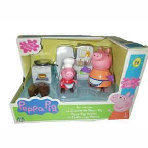 Η κουζίνα της Peppa Pig με 2 φιγούρες