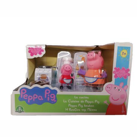 Η κουζίνα της Peppa Pig με 2 φιγούρες-1