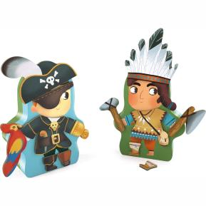 Djeco Μαγνητικό παιχνίδι 'Ινδιάνος' με ξύλινα μαγνητάκια (03083)