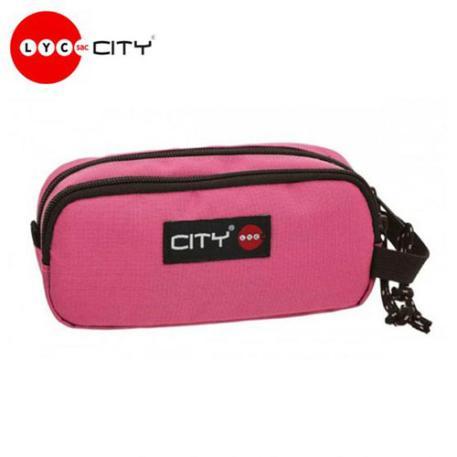 Κασετίνα Lycsac City Zippy 96196 Bubblegum Pink Διπλή-0