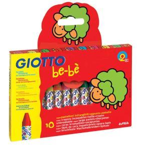 Giotto 10 κηρομπογιές - κραγιόν με ξύστρα