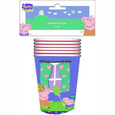 Ποτήρια για πάρτυ - Peppa Pig μπλε 6τμχ-0