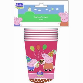 Ποτήρια για πάρτυ - Peppa Pig ροζ 6τμχ