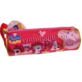Κασετίνα Βαρελάκι Peppa ροζ με παζλ