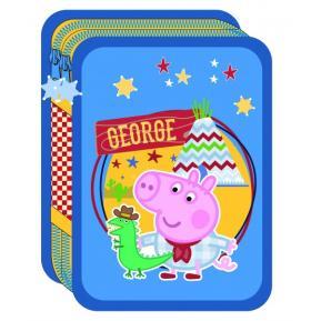Κασετίνα Διπλή Γεμάτη Peppa Pig George (0480319)