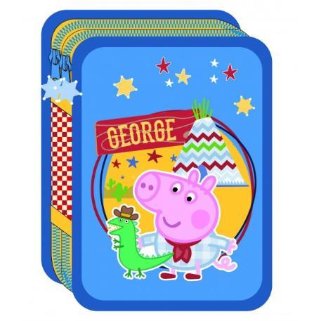 Κασετίνα Διπλή Γεμάτη Peppa Pig George-0