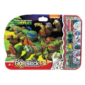 Σετ Ζωγραφικής Giga Block 5 in 1 Turtles