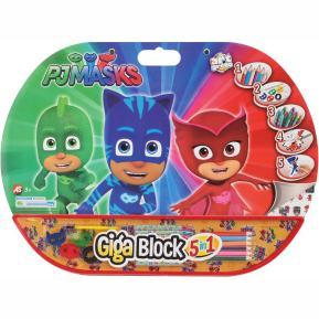Σετ Ζωγραφικής Giga Block 5 in 1 Pj Masks