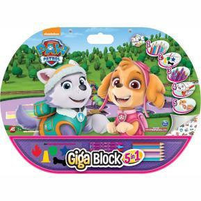 Σετ Ζωγραφικής Giga Block 5 σε 1 Paw Patrol