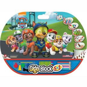 Σετ Ζωγραφικής Giga Block 5 in 1 Paw Patrol