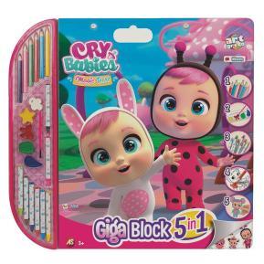 As company Σετ Ζωγραφικής Giga Block 5 In 1 Cry Babies 1023-62729