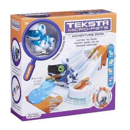 Teksta Micro-Pet Ρομπότ Playset Μπλέ Σκυλάκι-0