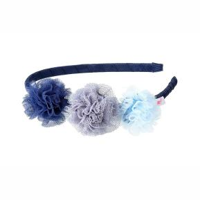 Souza Στέκα μαλλιών Denu με μπλε λουλούδια (105416)