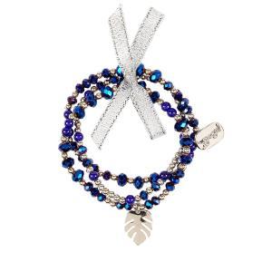 Souza Σετ Βραχιόλια Ricarda με μπλε πέτρες (105472)