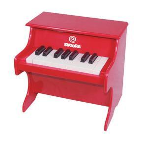 Svoora Πιάνο Ξύλινο Κόκκινο 1,5 οκτάβες 18 πλήκτρα 57201