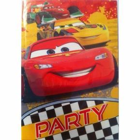 Προσκλήσεις για πάρτυ - Cars 5τμχ