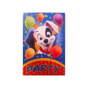 Προσκλήσεις για πάρτυ - 101 Dalmatians 5τμχ