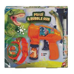 Λαμπάδα Ρολόι Και Bubble Gun Δεινόσαυρος 1500-15731
