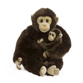 WWF Λούτρινο Χιμπατζής Μαμά & μώρο 30cm