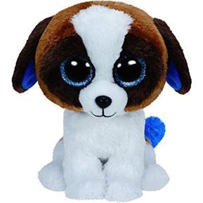 Ty Λούτρινο Σκύλος Καφέ - Άσπρο 15εκ