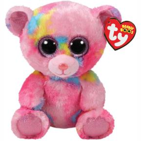Ty Λούτρινο Αρκουδάκι Ρόζ πολύχρωμο 15εκ