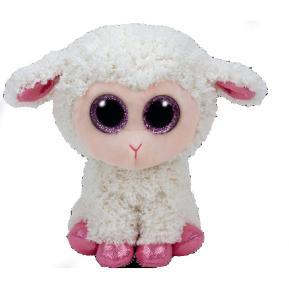 Ty Λούτρινο Πρόβατο Κρεμ 15εκ.