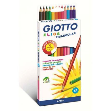Giotto Ξυλομπογιές Elios Τριγωνικές 12τμχ (0275800)-0