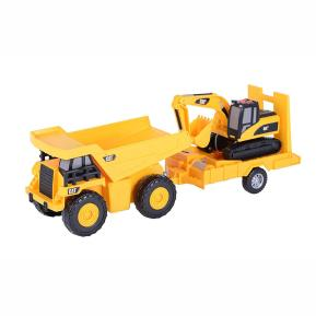 Cat Truck 'N Trailer - Dump Truck pulling Excavato