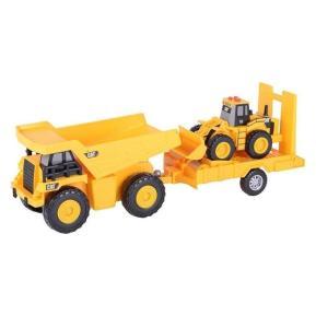 Cat Truck N Trailer - Dump Truck pulling Wheel Loa