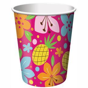 Ποτήρια για πάρτυ - Pink Luau Fun 8τμχ