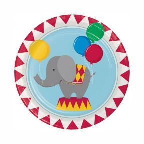 Πιάτα για πάρτυ - Circus Time 8τμχ