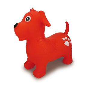 Jamara Φουσκωτό Ride On Jumping Animal Bouncer Κόκκινο Σκυλάκι 54cm
