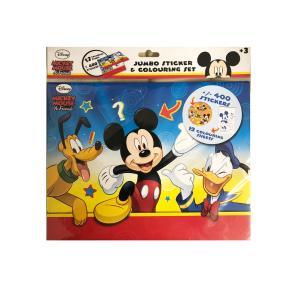 Jumbo 400 Sticker & 12 Colouring Set - Αυτοκόλλητα Mickey Mouse