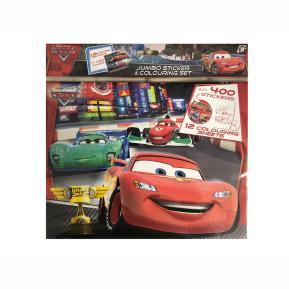 Jumbo 400 Sticker & 12 Colouring Set - Αυτοκόλλητα Cars
