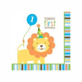 Χαρτοπετσέτες για πάρτυ - Happy first birthday boy
