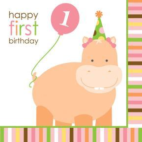 Χαρτοπετσέτες για πάρτυ - Happy first birthday