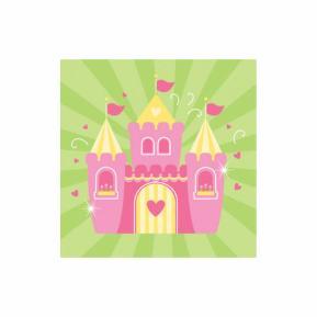 Χαρτοπετσέτες για πάρτυ - Fairytale Princess 16τμχ