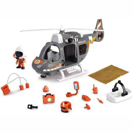 Giochi Preziosi Pinypon Action Ελικόπτερο Διάσωσης & Φιγούρα (700015350)-0