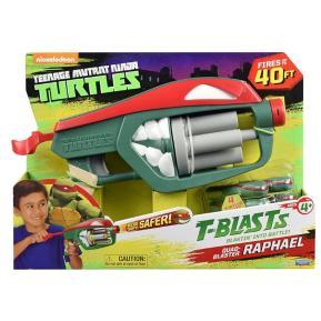TMNT Όπλο T-Blast Quad-Blaster Μπλε - Κόκκινο (98700)