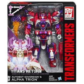 Hasbro Transformers Gen Voyager Tittans Autobot Sovereign & Alpha Trion