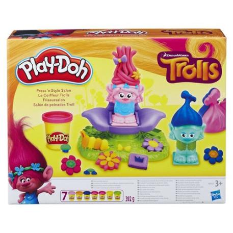 Play-Doh Trolls Press N Style Salon (B9027)-0