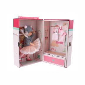Berjuan Κούκλα Irene με γκρι φόρεμα 18cm