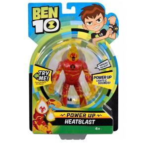 Ben 10 Deluxe Φιγούρα Power Up Heatblast (BEN01000)
