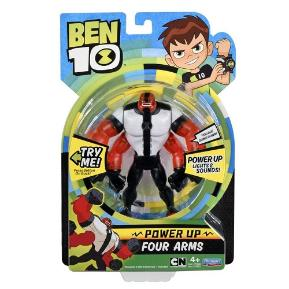 Ben 10 Deluxe Φιγούρα Power Up Four Arms