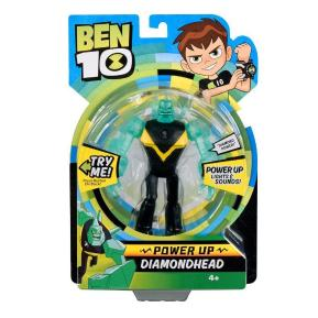 Ben 10 Deluxe Φιγούρα Power Up Diamondhead (BEN01000)
