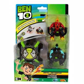 Ben 10 Omnitrix Transform + Φιγούρες Headblast & XLR8 (BEN22000)