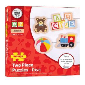 Bigjigs Toys Ξύλινα Puzzle 2 τμχ - Παιχνίδια (BJ227)