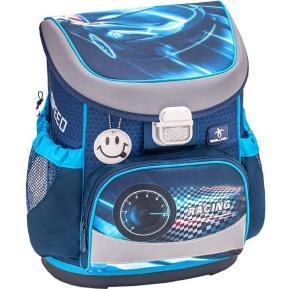 BeLMil Τσάντα Δημοτικού Πλάτης Blue Race Mini Fit 405-33RACEBLUE