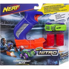Nerf Nitro ThrottleShot Blitz (blue blaster) Αυτοκινητάκι με Εκτοξευτή (C0780)