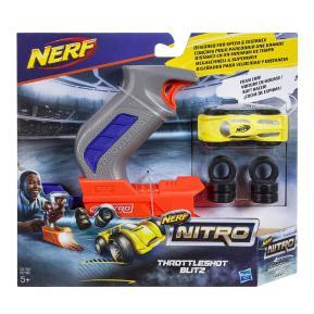 Nerf Nitro ThrottleShot Blitz (grey blaster) Αυτοκινητάκι με Εκτοξευτή (C0780)